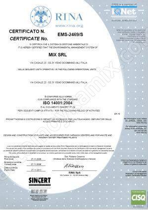 сертификат ISO 14001:2004